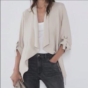 """⚡️NWT⚡️ Zara """"flowy jacket drawstring blazer"""""""